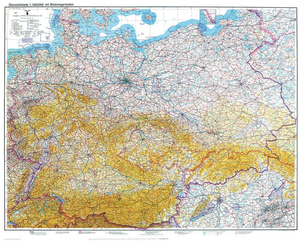 alte karte deutschland 1940 Historische Karte: DEUTSCHLAND [Deutsches Reich] 1938/1940 [mit