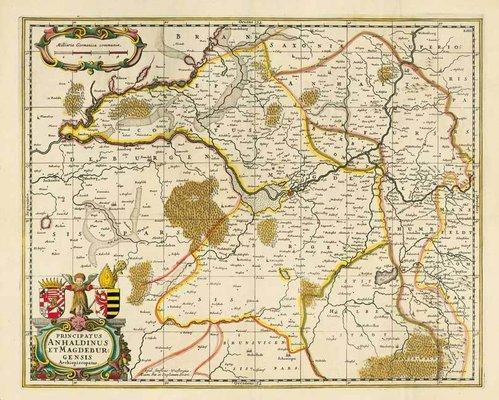 Karte Sachsen Anhalt.Sachsen Anhalt Historische Landkarten Historical Maps