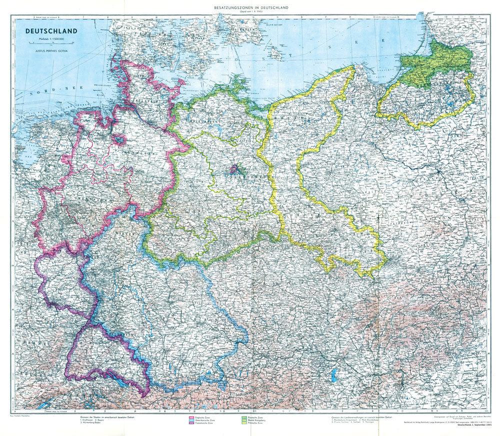 deutschland 1910 landkarte Historische Karte: Deutschland mit Besatzungszonen   1. September