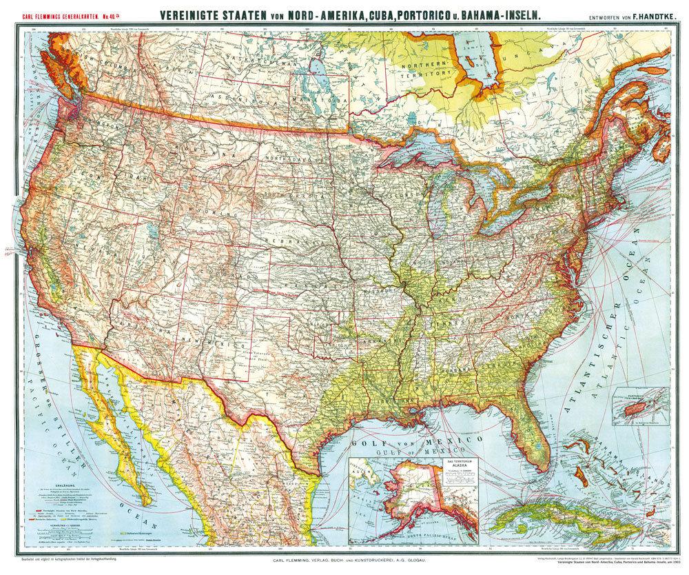 Usa Karte Ohne Staaten.General Karte Von Vereinigte Staaten Nord Amerika Usa Cuba