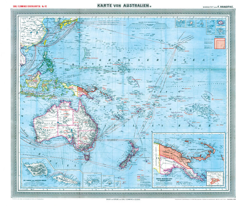 general karte von australien und s dsee 1903 historische landkarten historical maps. Black Bedroom Furniture Sets. Home Design Ideas