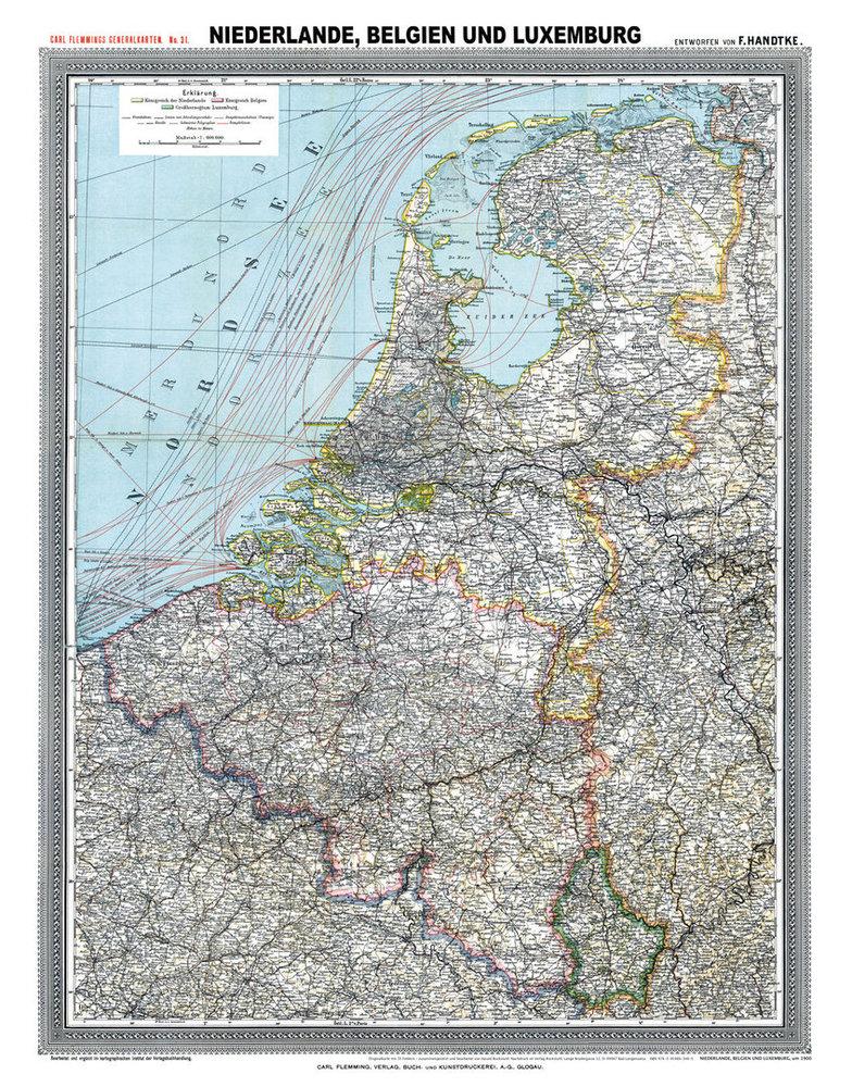 Karte Von Holland Und Belgien.Historische Karte Niederlande Belgien Und Luxemburg Um