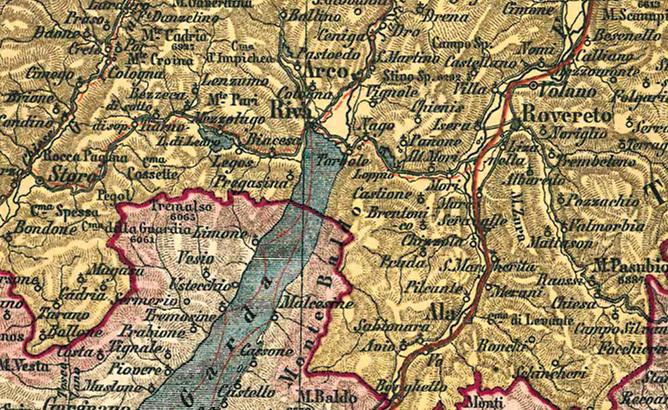 Karte Tirol.Historische Karte Tirol Und Salzburg Um 1900 Gerollt