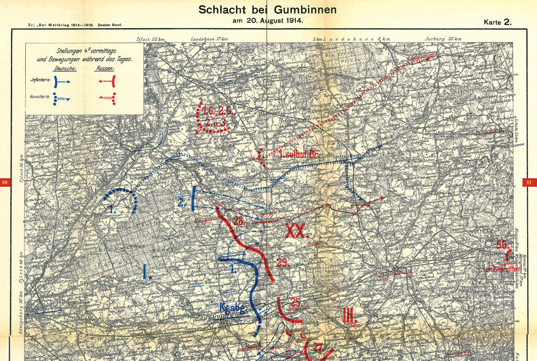 Karte Ostpreußen.Historische Karten Schlachten Um Ostpreussen 1914 Historische